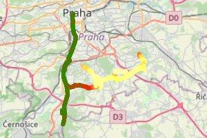 —> Karlův most —> vodní nádrž Hostivař —> Šeberák —> Plaza —> (🚦6👎:7👍)